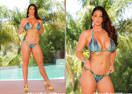 Alison Tyler in her hot bikini - Solo HD Gallery