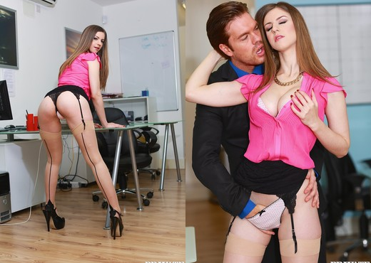 Busty Office Slut Stella Cox Gets Nailed by Her Boss - Hardcore Sexy Gallery