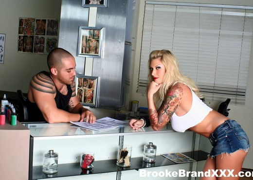Watch Big Boobed Brooke Get Fucked All Over The Tattoo Shop - Hardcore HD Gallery