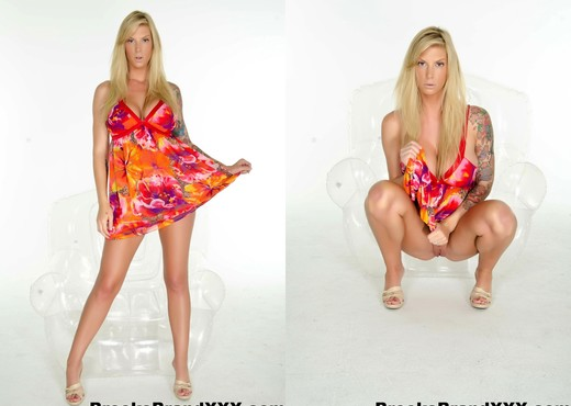 Busty Brooke in her flower dress - Brooke Banner - Solo Sexy Gallery