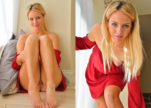 Katie - Little Red Dress - FTV Girls - Solo Nude Gallery