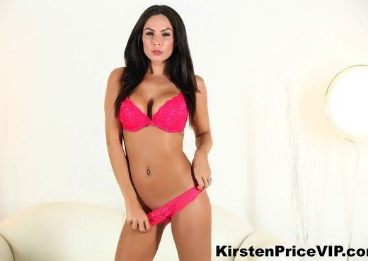 Brunette hottie Kirsten Price shows off her amazing boobs - Toys Sexy Photo Gallery