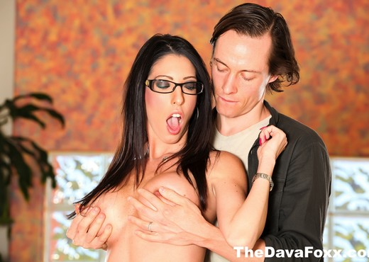 Busty Brunette Dava Foxx takes on a big dick from Owen - Hardcore Nude Pics