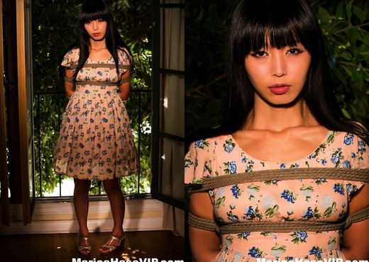 Asian babe Marica is tied up and played with - Marica Hase - Asian HD Gallery