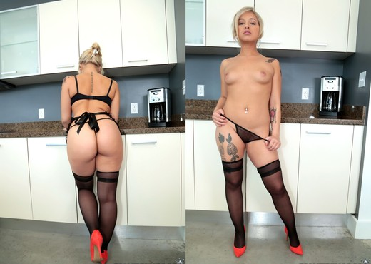 Veronica Dean - Coochie In The Kitchen - Monster Curves - Hardcore Picture Gallery