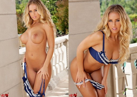Nicole Aniston - Blue Silk Panties - Solo TGP