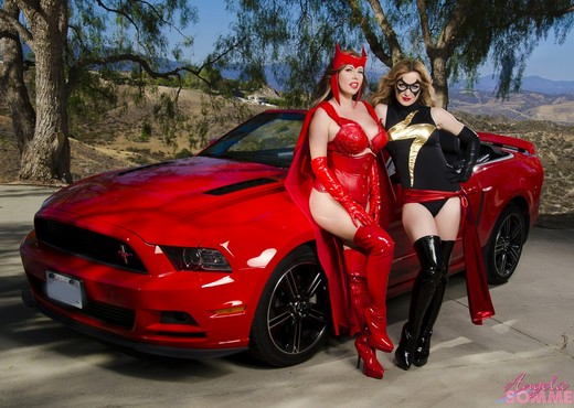 Angela Sommers - Ms Marvel VS Scarlet Witch - Lesbian Hot Gallery