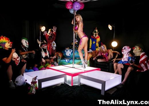 Crazy Clown Strip Club lesbian fucking! - Alix Lynx - Lesbian HD Gallery