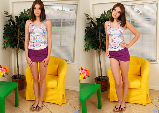 Blaire Ivory - yellow chair vibes - Teen Nude Pics