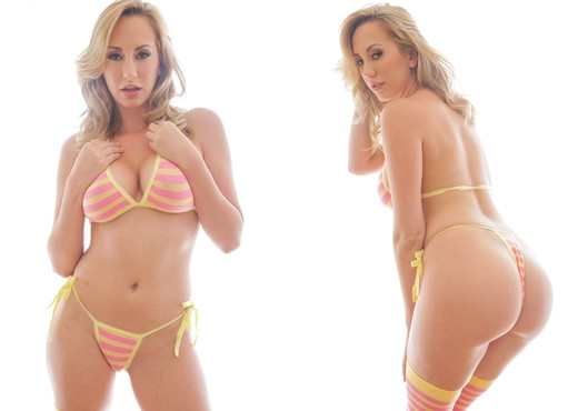 Brett Rossi - Busty Bimbo Talks Filth For 'Daddy' - Solo Sexy Photo Gallery