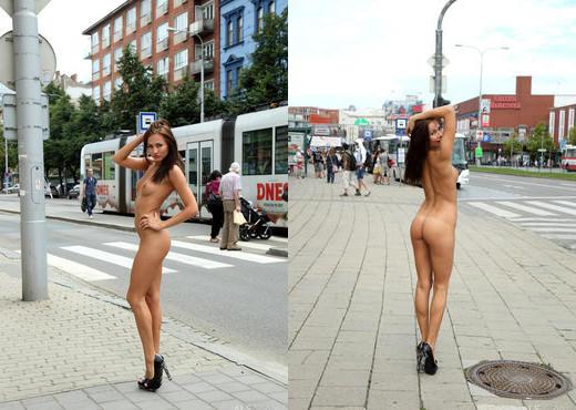 Michaela Isizzu - Nude in Public - ALS Scan - Solo Porn Gallery