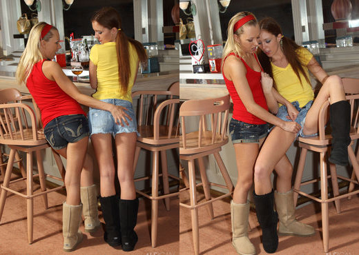 Jeanie, Maddy OReilly - Wine Bar - ALS Scan - Lesbian Sexy Photo Gallery