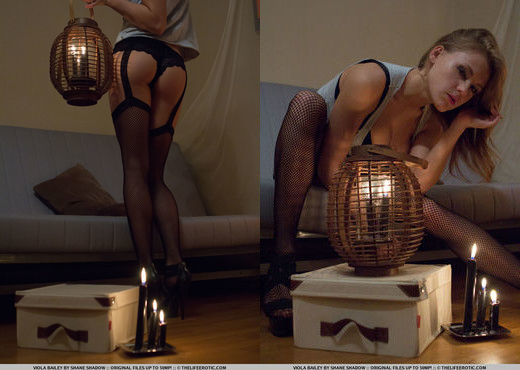 Viola Bailey - Fish Net 1 - The Life Erotic - Solo Nude Pics