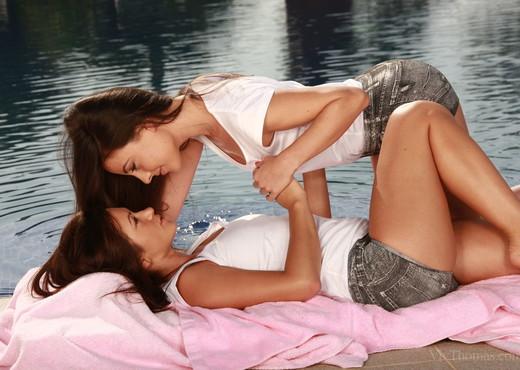 Lorena Garcia, Tess A - Pool Cleaners - Viv Thomas - Lesbian Nude Gallery