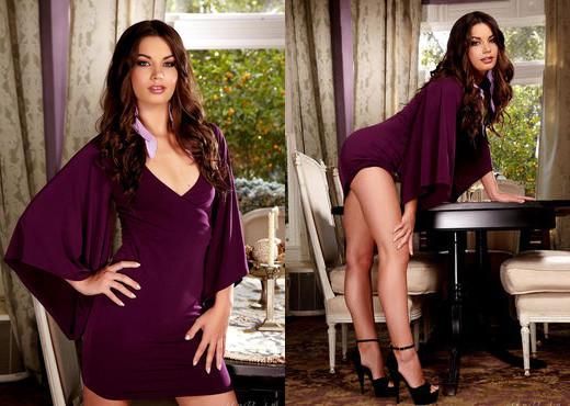 Amber Addisson - Purple Dress - Holly Randall - Solo Image Gallery
