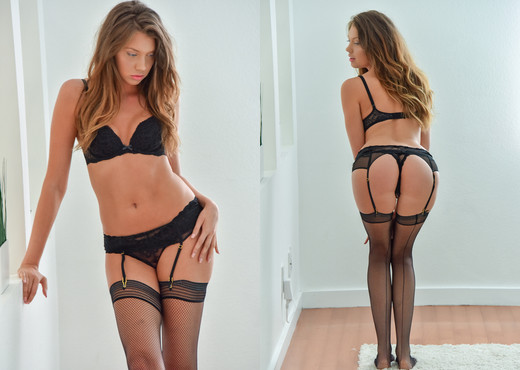 Elena Koshka - Black Stockings And Lingerie - FTV Girls - Solo Picture Gallery