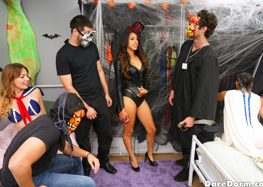 Sophia Leone - Halloween Dress Down - Dare Dorm - Amateur Hot Gallery