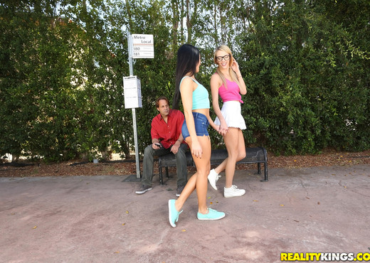 Megan Rain, Blake Eden - Bus Stop Lust - We Live Together - Lesbian Sexy Gallery