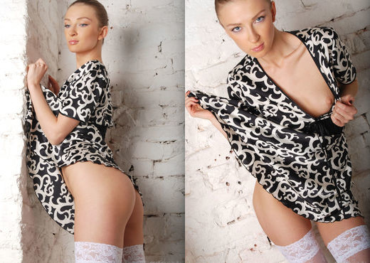 Marrina - Black & White Dress 1 - Erotic Beauty - Solo TGP