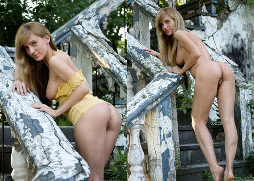 Gisele A - On The Stairs - Erotic Beauty - Solo Sexy Photo Gallery