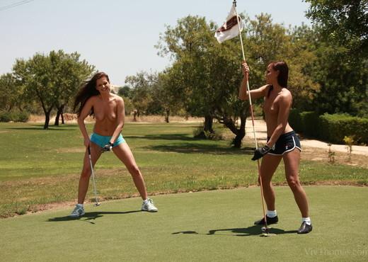 Jo, Sandra Shine - Topless Golfing - Viv Thomas - Lesbian Hot Gallery