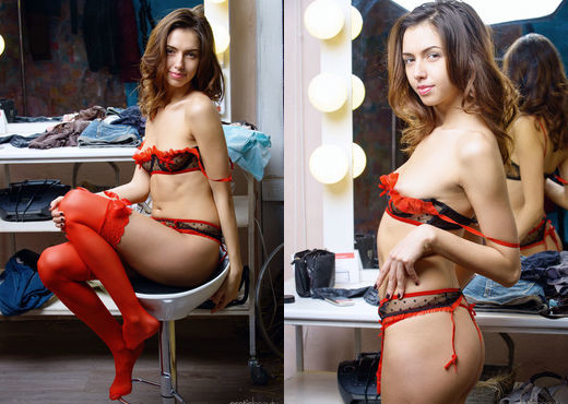 Nadine B - Dressing Room 1 - Erotic Beauty - Solo HD Gallery