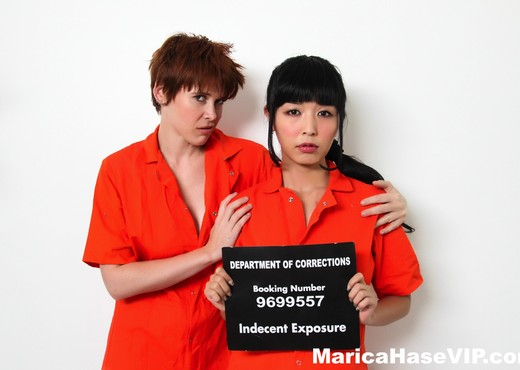 New inmate Marica meets prison bully Lily - Marica Hase - Lesbian Sexy Photo Gallery