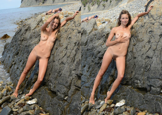 Geissa - Rocky Shore - Erotic Beauty - Solo HD Gallery