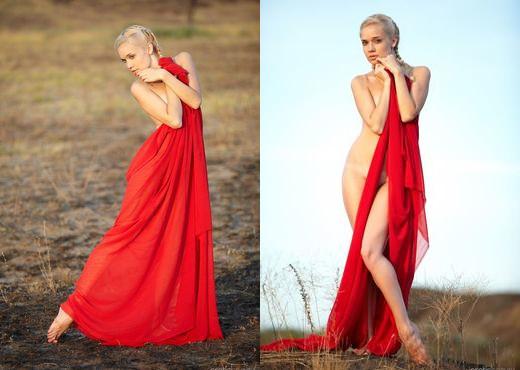 Aljena A - Red Cape 1 - Erotic Beauty - Solo Image Gallery