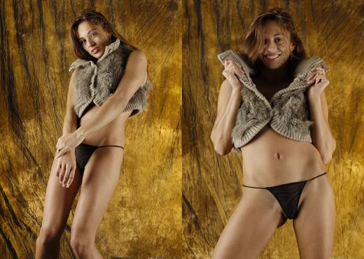 Dominika - Cow Hide Beauty 2 - Erotic Beauty - Solo Nude Gallery