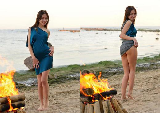 Sasha Rose - Evening Fire - Stunning 18 - Teen Nude Gallery