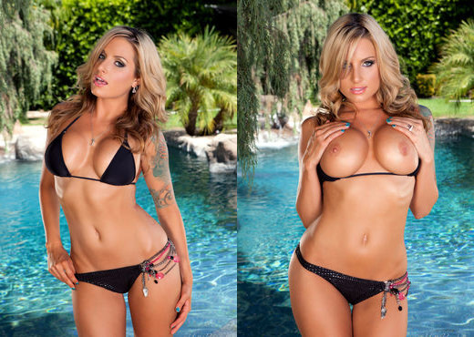 Teagan Presley - Poolside Pleasure - Holly Randall - Solo Nude Pics