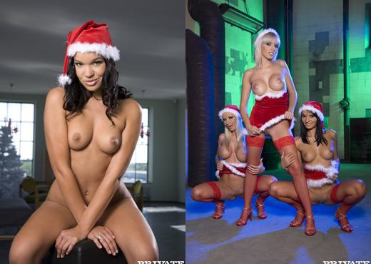 Santa's Sexy Helpers Aletta Ocean and Lara Amour - Hardcore Hot Gallery