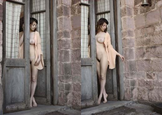 Esmeralda Nude In Courtyard - NuErotica - Solo Nude Gallery