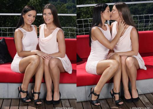 LesArchive - Ennie and Kari - Lesbian Image Gallery
