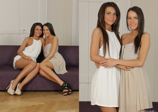 Lesbians Adriana and Kety Pearl eat ass and pussy on an outdoor sofa № 13401 загрузить
