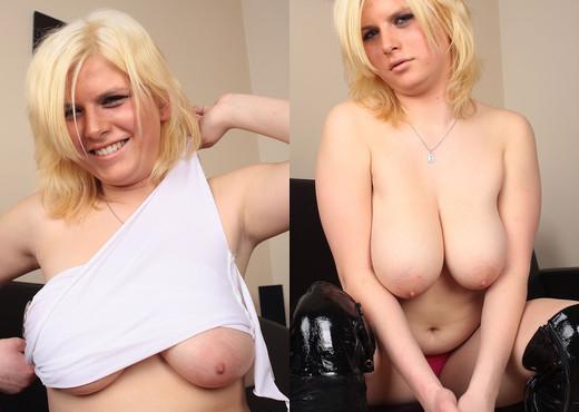 Kasia Nova hot blonde on sofa - My Boobs - Boobs Nude Pics