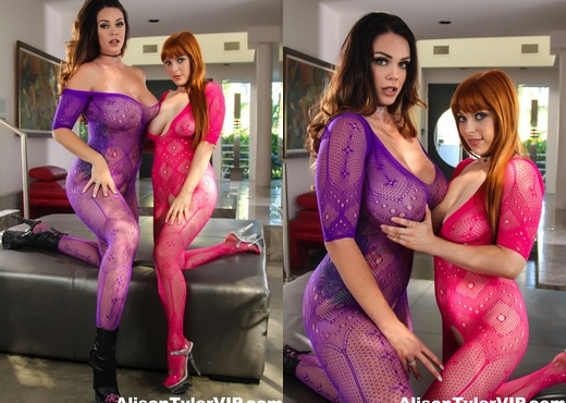 Alison Tyler & Penny Pax have one good of a fuck session - Lesbian Nude Gallery