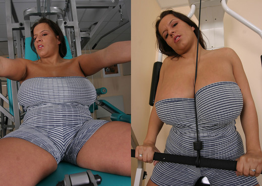 Aneta Buena at Gym - Boobs Image Gallery