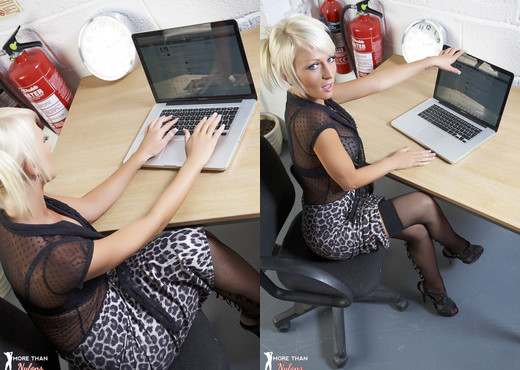 Carly Thorpe - Office Twit - More Than Nylons - Solo HD Gallery