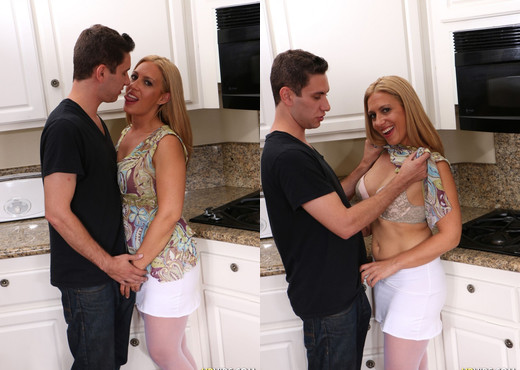 Housewife Cheats On Her Husband In Her Kitchen - Hardcore Hot Gallery