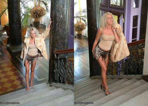 Daria long legs on stairs - Magic Legs - Solo TGP