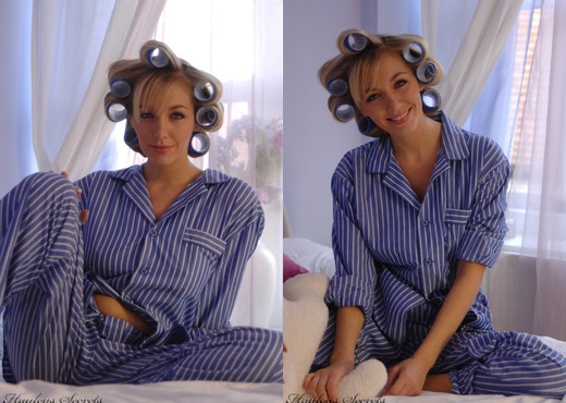 Hayley Marie Coppin - Bedroom Jammies - Hayley's Secrets - Solo Sexy Gallery