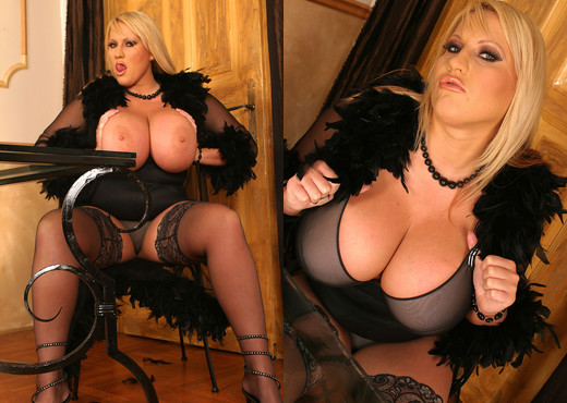 Laura Stockings Black - My Boobs - Boobs Picture Gallery