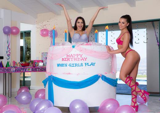 Adriana Chechik & Valentina Nappi - When Girls Play Birthday - Lesbian Porn Gallery