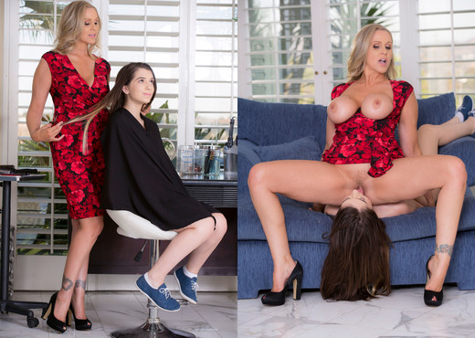 Joseline Kelly & Julia Ann - Hairdressers Do It With Style - Lesbian Picture Gallery