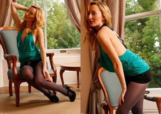 Sophia Smith - Bra-less Wonder - Sophia's Sexy Legwear - Solo Nude Pics