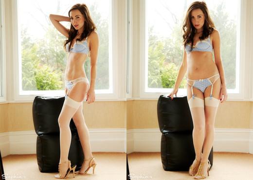 Sophia Smith - Natural Light - Sophia's Sexy Legwear - Solo Nude Pics