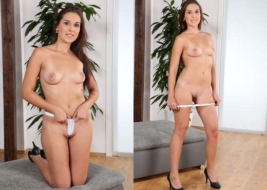 Sex toy play for innocent brunette babe Katty - Toys Image Gallery