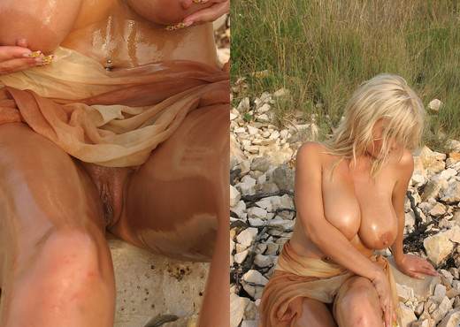 Ines Oiled on the beach - Ines Cudna - Boobs TGP